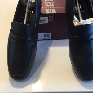 NEW Men's Bruno Magli Black Pete Leather Loafers